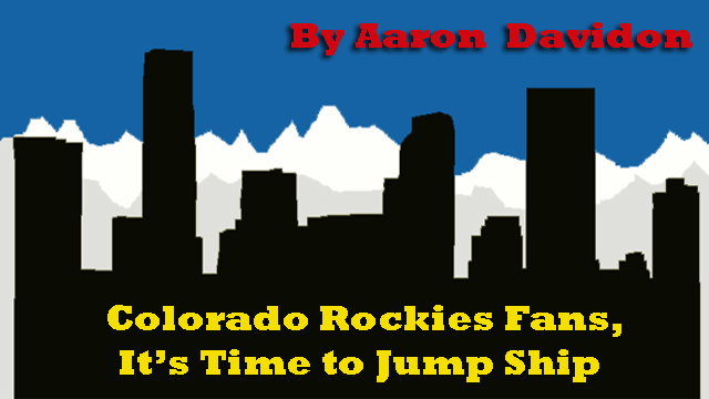 Colorado Rockies Fans Looking to Re-live 2007, It's Time to Jump Ship